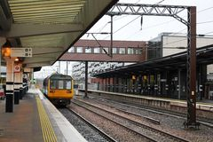 Pacer diesel multiple unit at Wakefield Westgate Stock Images