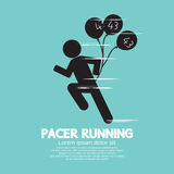 Pacer Running With Balloons Symbol Royalty Free Stock Image
