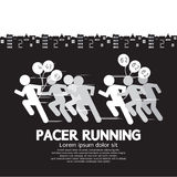 Pacer Running With Balloons Symbol Royalty Free Stock Photography