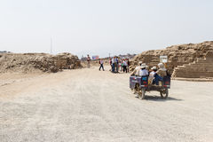 Pachacamac考古学复合体在利马 免版税库存照片