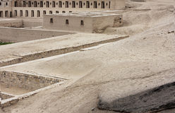 Pachacamac Acllahuasi (House of the choosen women). Ruins at the Archaeological Complex of Pachacamac in Lima Royalty Free Stock Photo