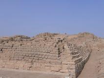 Pachacamac-Pyramide Nr. 1 in südlich von Lima Stockfoto