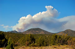 Pacheco Canyon Fire. Pacheco Canyon wild fire burning north of Santa Fe, New Mexico, June 23, 2011 Royalty Free Stock Image