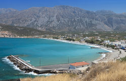 Pachia Ammos beach at Crete, Greece Royalty Free Stock Photo