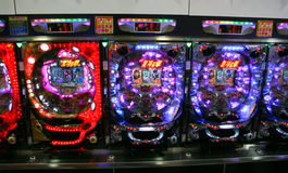 Pachinko Machines Royalty Free Stock Photo
