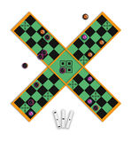 pachisi antiguo del juego de mesa Libre Illustration