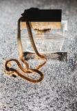 Pachnidła i złota biżuteria obrazy royalty free