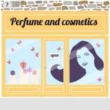 Pachnidła i kosmetyków sklep Fotografia Royalty Free
