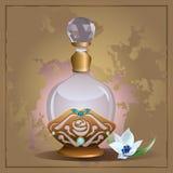 Pachnidło leluja i butelka ilustracja wektor