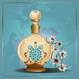 Pachnidło leluje i butelka ilustracja wektor