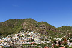 Pachuca II. View of the silvermine installations and part of the city of pachuca, capital of the mexican state of hidalgo Stock Image