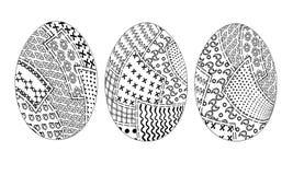 Pachwork 3pz dos ovos da páscoa ilustração do vetor