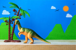 Pachycephalosaurus dinosaura zabawki model Fotografia Royalty Free