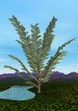 Pachypteris tree - 3D render Royalty Free Stock Photos