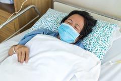 Paciente caiga dormido fotografía de archivo libre de regalías