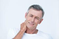 Paciente com dor do pescoço imagem de stock royalty free