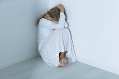 Paciente con un desorden de ansiedad Imagen de archivo