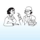 Paciente del doctor y de la hembra Fotografía de archivo