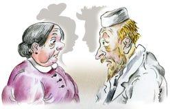 Paciente del doctor y de la mujer ilustración del vector