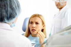 Paciente dental imagens de stock royalty free
