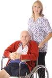 Paciente do lar de idosos Imagens de Stock Royalty Free