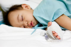 Paciente do menino no hospital Imagem de Stock Royalty Free