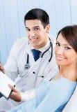 Paciente e doutor Fotografia de Stock Royalty Free