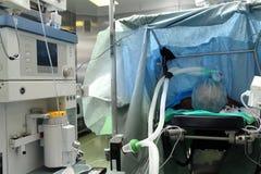 Paciente en sala de operaciones Fotografía de archivo libre de regalías