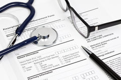 Paciente Info de Rx Imagen de archivo libre de regalías