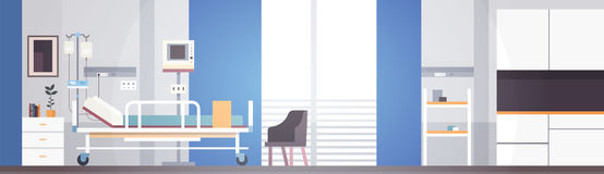 Paciente intensivo interior Ward Banner With Copy Space da terapia da sala de hospital Foto de Stock