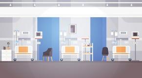 Paciente intensivo interior Ward Banner With Copy Space de la terapia del sitio de hospital Imagen de archivo