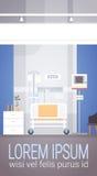 Paciente intensivo interior Ward Banner With Copy Space de la terapia del sitio de hospital Fotos de archivo