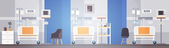 Paciente intensivo interior Ward Banner With Copy Space de la terapia del sitio de hospital Imágenes de archivo libres de regalías