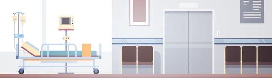 Paciente intensivo interior Ward Banner With Copy Space de la terapia del sitio de hospital Fotografía de archivo