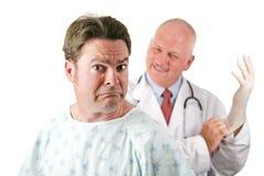 Paciente médico nervioso Imágenes de archivo libres de regalías