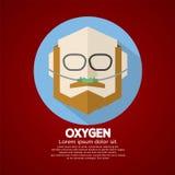 Paciente mayor con el catéter nasal del oxígeno respiratorio Fotos de archivo libres de regalías