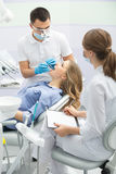 Paciente na odontologia Imagens de Stock Royalty Free