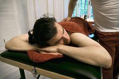 Paciente no sofá Fotografia de Stock Royalty Free