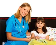 Paciente pequeno feliz Fotos de Stock Royalty Free
