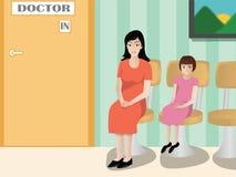 Paciente que espera en un hospital Imagenes de archivo