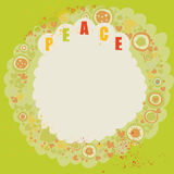 Pacific banner. Colorful hippie backgroung on green Royalty Free Stock Image