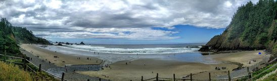 Pacific beach in Oregon Royalty Free Stock Images