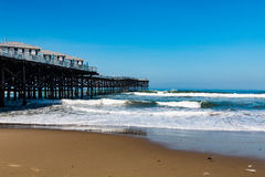 Pacific Beach in San Diego, with the Crystal Pier Royalty Free Stock Photography