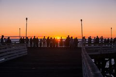 Pacific beach sunset Stock Image