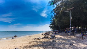 Pacific beach in Thailand, Holiday travel in Thaialnd. Timelapse stock footage