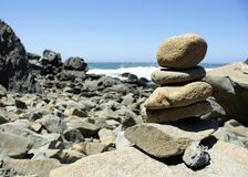 Pacific Cairn Royalty Free Stock Images