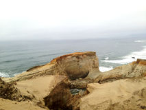 Pacific City Oregon. Top of the sand dunes in Pacific City Oregon, overlooking the ocean stock photos