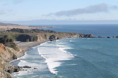 Pacific coast. Pacific waves along California Hwy 1 Stock Photos