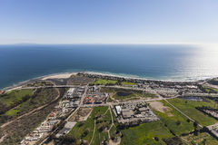 Pacific Coast Aerial Malibu California. Aerial view of the Pacific Coast in Malibu California Stock Photography