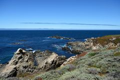 Pacific Coast along the California State Route One, CA, USA. Pacific Coast along the California State Route One, California, USA royalty free stock image